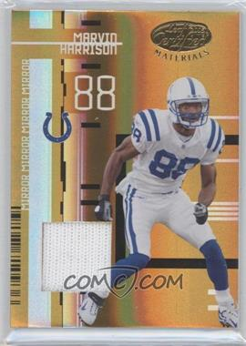 2005 Leaf Certified Materials Mirror Gold Materials [Memorabilia] #52 - Marvin Harrison /25