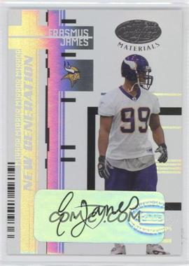 2005 Leaf Certified Materials Mirror White Signatures [Autographed] #159 - Erasmus James /50