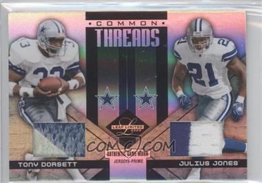 2005 Leaf Limited Common Threads Prime #CT-17 - Tony Dorsett, Julius Jones /10