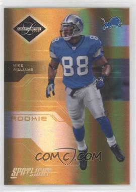 2005 Leaf Limited Spotlight Gold #190 - Mike Williams /25