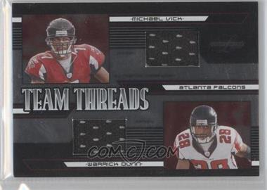 2005 Leaf Limited Team Threads #TT-1 - Michael Vick, Warrick Dunn /75