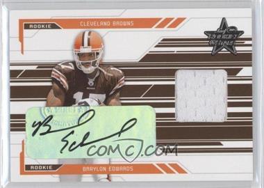 2005 Leaf Rookies & Stars - [Base] - Rookie Autographs [Autographed] #255 - Braylon Edwards /50