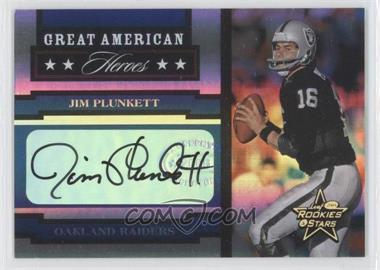 2005 Leaf Rookies & Stars - Great American Heroes - Signatures [Autographed] #GAH-15 - Jim Plunkett /100
