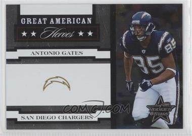 2005 Leaf Rookies & Stars - Great American Heroes - White #GAH-3 - Antonio Gates /750