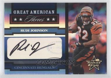 2005 Leaf Rookies & Stars Great American Heroes Signatures [Autographed] #GAH-23 - Rudi Johnson /100