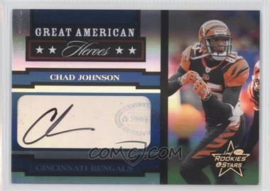 2005 Leaf Rookies & Stars Great American Heroes Signatures [Autographed] #GAH-6 - Chad Johnson /50