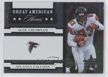 2005 Leaf Rookies & Stars Great American Heroes White #GAH-2 - Alge Crumpler /750