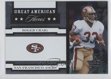 2005 Leaf Rookies & Stars Great American Heroes White #GAH-22 - Roger Craig /750