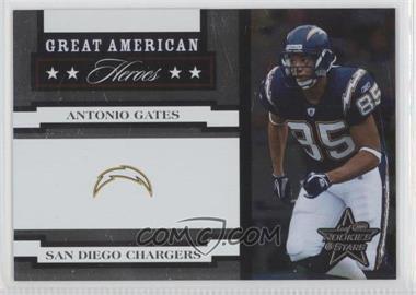 2005 Leaf Rookies & Stars Great American Heroes White #GAH-3 - Antonio Gates /750