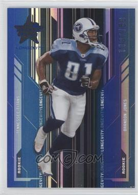 2005 Leaf Rookies & Stars Longevity - [Base] - Sapphire #207 - Brandon Jones /150