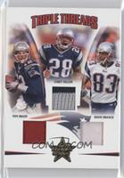 Corey Dillon, Deion Branch, Tom Brady /25