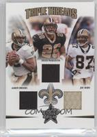 Deuce McAllister, Joe Horn, Aaron Brooks /150