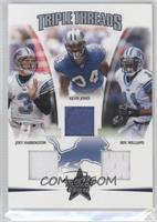 Joey Harrington, Kevin Jones, Roy Williams /150