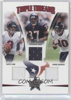David Carr, Andre Johnson, Domanick Davis /150