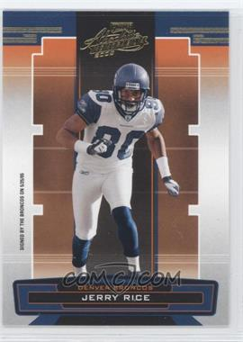 2005 Playoff Absolute Memorabilia - [Base] - Retail #130 - Jerry Rice