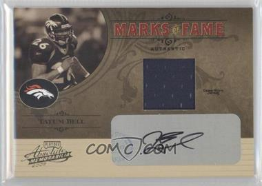2005 Playoff Absolute Memorabilia Marks of Fame Materials Autographs [Autographed] [Memorabilia] #MF-9 - Tatum Bell /300