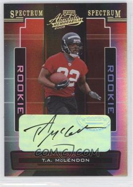 2005 Playoff Absolute Memorabilia Spectrum Gold Autographs [Autographed] #198 - T.A. McLendon /10
