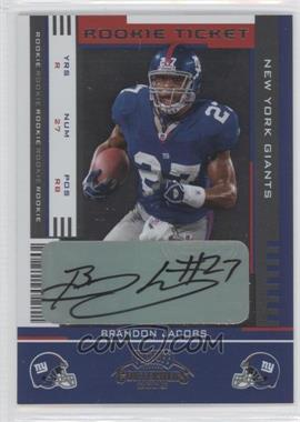 2005 Playoff Contenders - [Base] #110 - Rookie Ticket - Brandon Jacobs