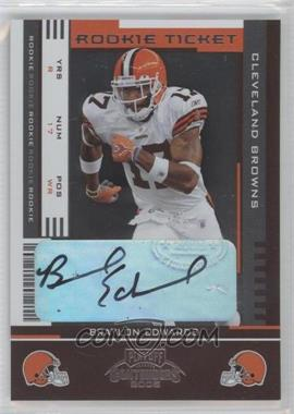 2005 Playoff Contenders - [Base] #112 - Rookie Ticket - Braylon Edwards