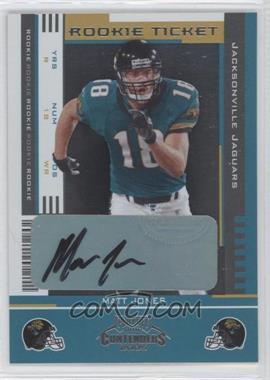2005 Playoff Contenders - [Base] #156 - Rookie Ticket - Matt Jones /165