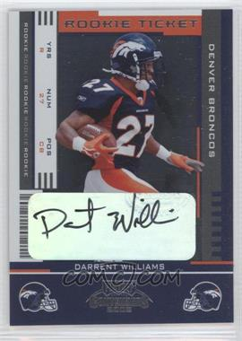 2005 Playoff Contenders - [Base] #184 - Rookie Ticket - Darrent Williams