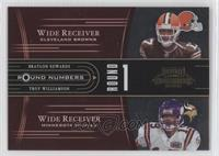 Braylon Edwards, Troy Williamson, Mike Williams, Matt Jones /250