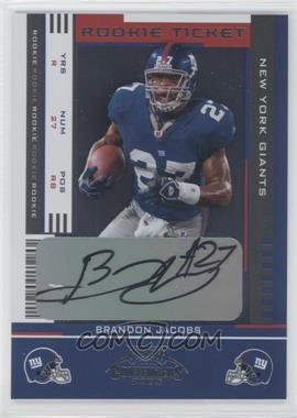 2005 Playoff Contenders #110 - Brandon Jacobs