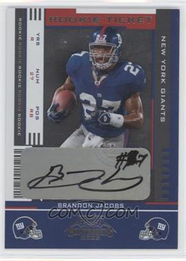 2005 Playoff Contenders #110 - Rookie Ticket - Brandon Jacobs