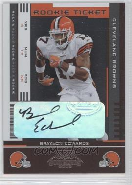2005 Playoff Contenders #112 - Rookie Ticket - Braylon Edwards