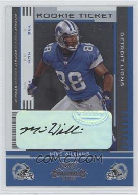 2005 Playoff Contenders #159 - Mike Williams /73