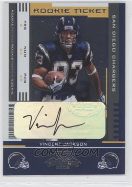2005 Playoff Contenders #181 - Rookie Ticket - Vincent Jackson