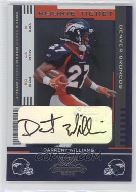 2005 Playoff Contenders #184 - Darrent Williams