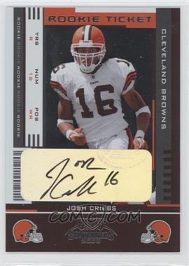 2005 Playoff Contenders #187 - Josh Cribbs