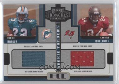 "2005 Playoff Honors - Rookie Tandems - Jerseys [Memorabilia] #RT-2 - Carnell ""Cadillac"" Williams, Ronnie Brown"