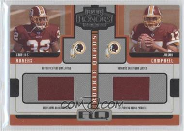 "2005 Playoff Honors Rookie Quads Jerseys [Memorabilia] #RQ-2 - Carnell ""Cadillac"" Williams, Jason Campbell, Ronnie Brown, Carlos Rogers /250"