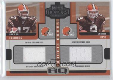 2005 Playoff Honors Rookie Quads Jerseys [Memorabilia] #RQ-3 - Ciatrick Fason, Braylon Edwards, Charlie Frye, Troy Williamson /250