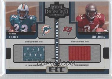 "2005 Playoff Honors Rookie Tandems Jerseys [Memorabilia] #RT-2 - Carnell ""Cadillac"" Williams, Ronnie Brown"