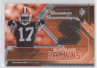 2005 SPx Rookie Swatch Supremacy #RS-BE - Braylon Edwards