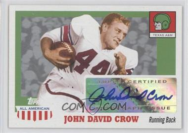 2005 Topps All American Retired Edition - Autographs #A-JDC - John David Crow