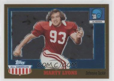 2005 Topps All American Retired Edition Chrome Gold #3 - Marty Lyons /555