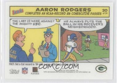 2005 Topps Bazooka Comics #20 - Aaron Rodgers