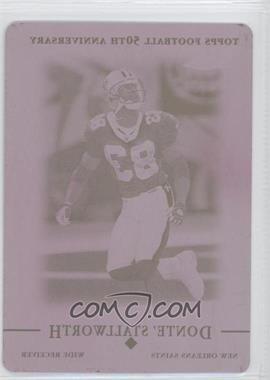 2005 Topps Chrome - [Base] - Printing Plate Magenta #120 - Donte Stallworth /1