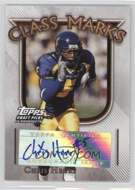2005 Topps Draft Pick & Prospects - Class Marks #CM-CH - Chris Henry