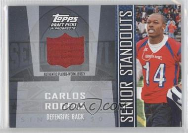 2005 Topps Draft Pick & Prospects - Senior Standouts Relics #SS-CR - Carlos Rogers