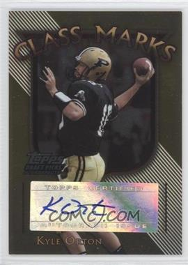 2005 Topps Draft Pick & Prospects Class Marks Gold #CM-KO - Kyle Orton /10