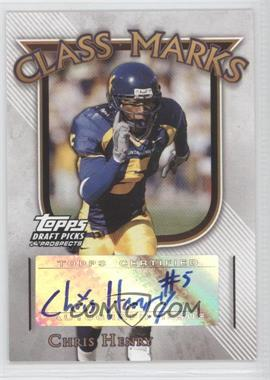 2005 Topps Draft Pick & Prospects Class Marks #CM-CH - Chris Henry