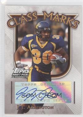 2005 Topps Draft Pick & Prospects Class Marks #CM-JJA - J.J. Arrington