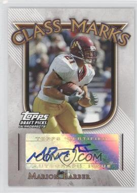 2005 Topps Draft Pick & Prospects Class Marks #CM-MB - Marion Barber III