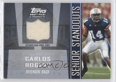 2005 Topps Draft Pick & Prospects Senior Standouts Relics #2 - Carlos Rogers