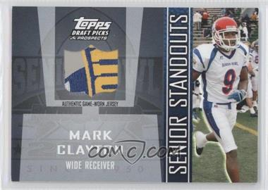 2005 Topps Draft Pick & Prospects Senior Standouts Relics #SS-MC - Mark Clayton